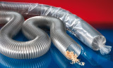 Flame resistant polyurethane hoses for the wood industry